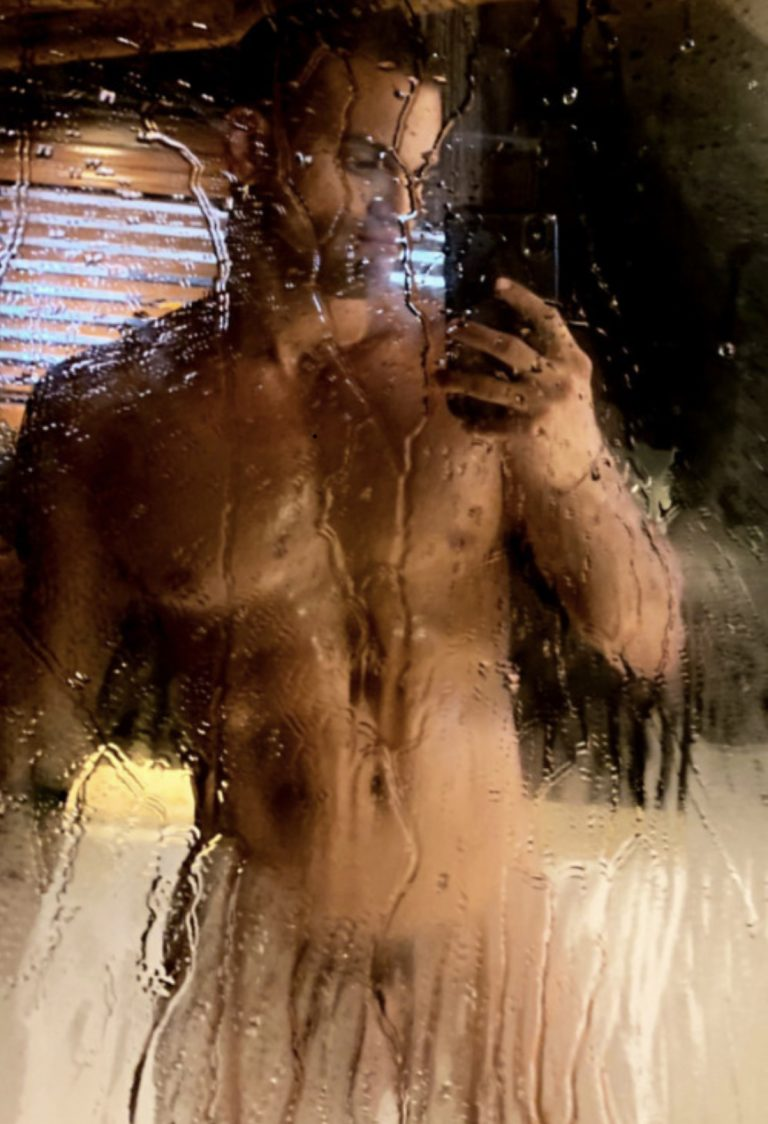 Jack started filming the guys at the gym watching him shower. Some days we video him and he loves showing off!