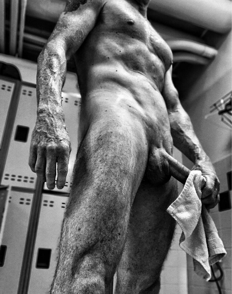 If you don't have time for a shower, at least wipe-off your cock after playing with the guys at the gym.