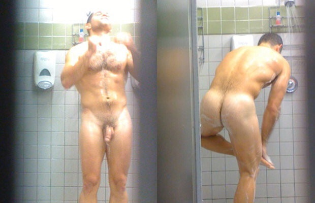In group showers, everyone can see everyone.But from the bench in front of the lockers you can see the best ones!