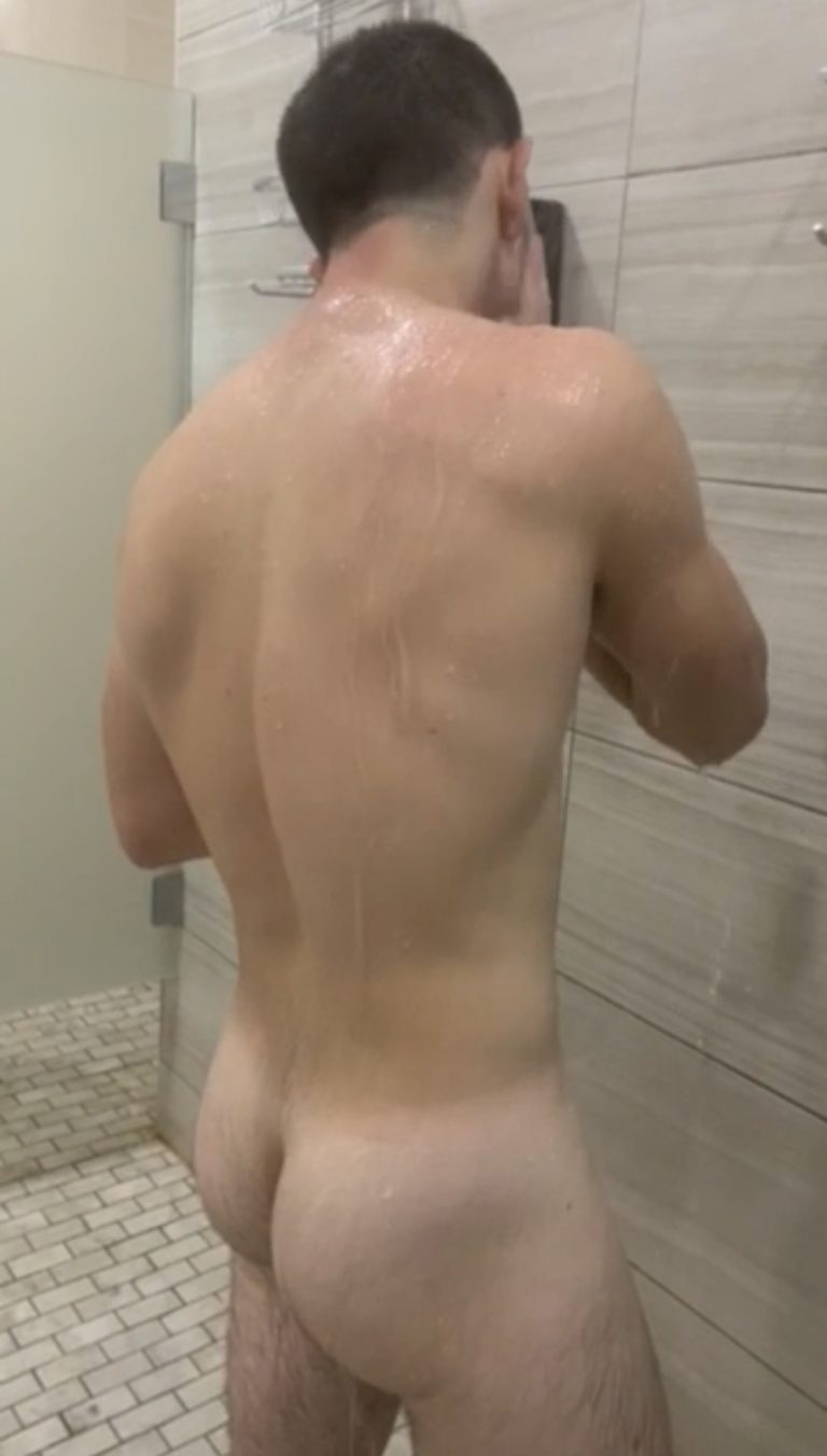 Shower off after a workout if your girl is expecting you. If your lucky, your buddy will show up and you can skip the girl's house and go play poker.