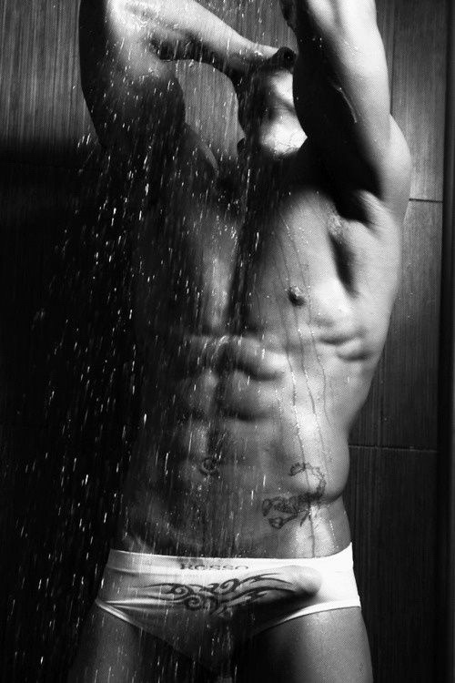 Zack acts like he's shy and wears his underwear in the shower. They are always white, skin tight and rock-filled!