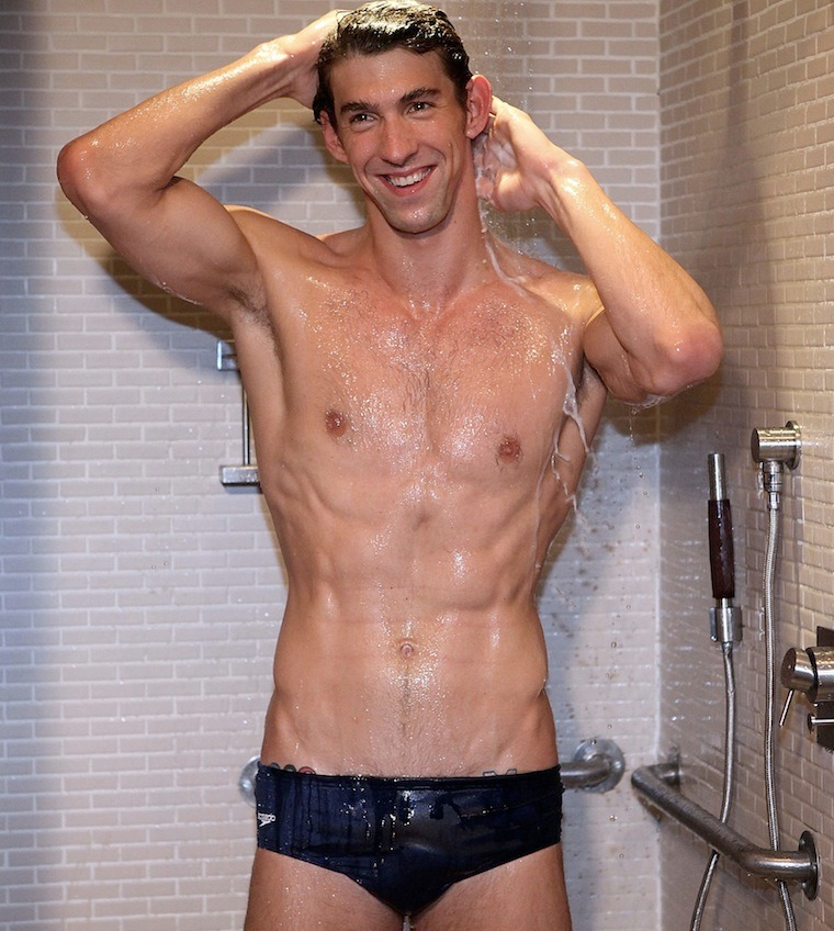 I bet he spent as much time in the locker room as he has the pool. Well, at least that's my fantasy.